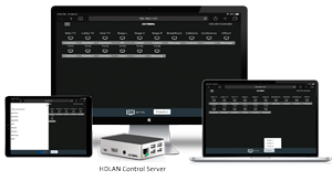 Create and Control the HDLAN over IP Video System from virtually any device.