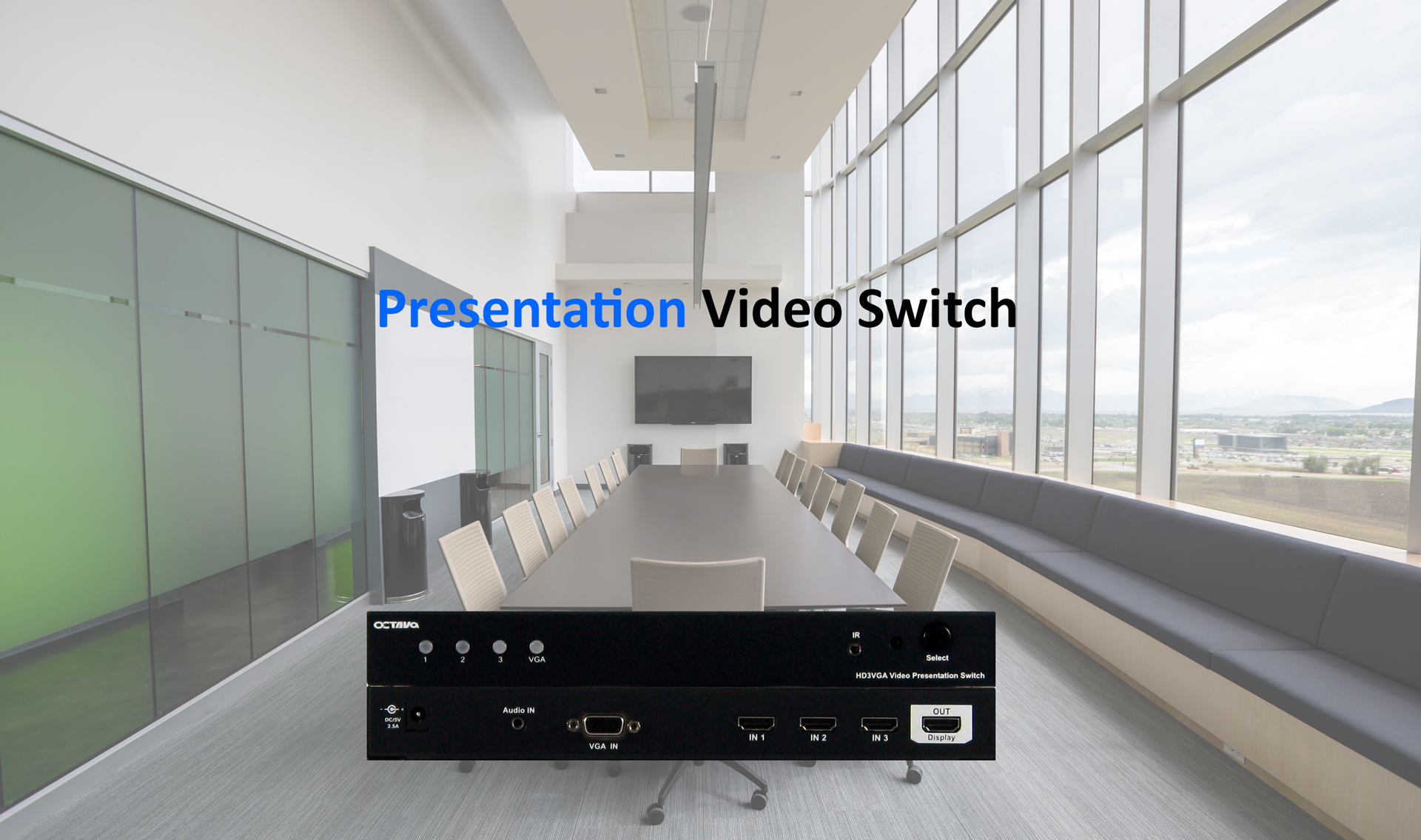 HD3VGA Presentation Switch with HDMI and VGA Input Scaling