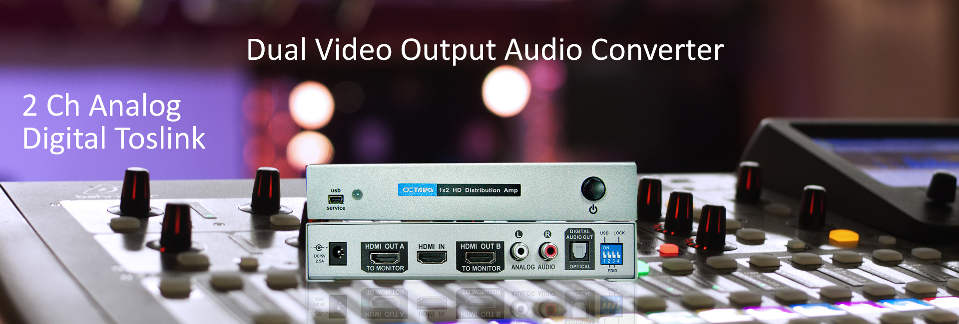 HDMI 1×2 Distribution Amp Audio Converter – Video Over IP