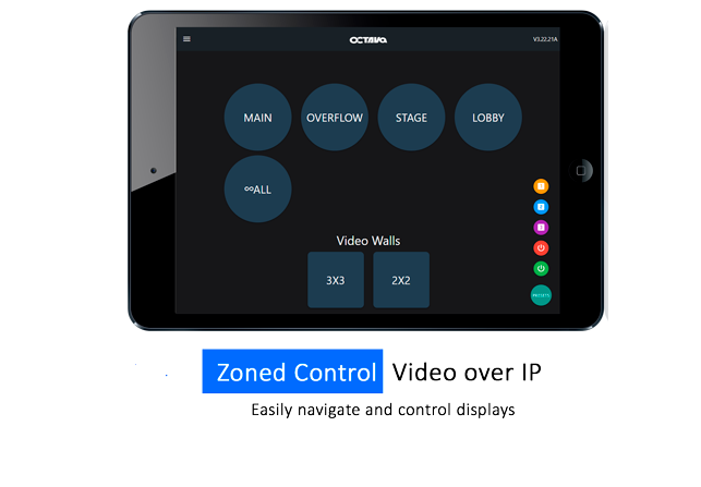 Web Application configure, manage and control multi-zone video system.
