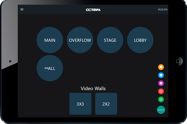 Web Application configure, manage and control multi-zone video system