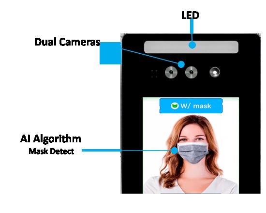 temperature and mask detect terminal