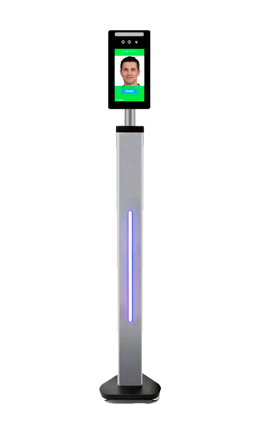 Automated temperature screening kiosk
