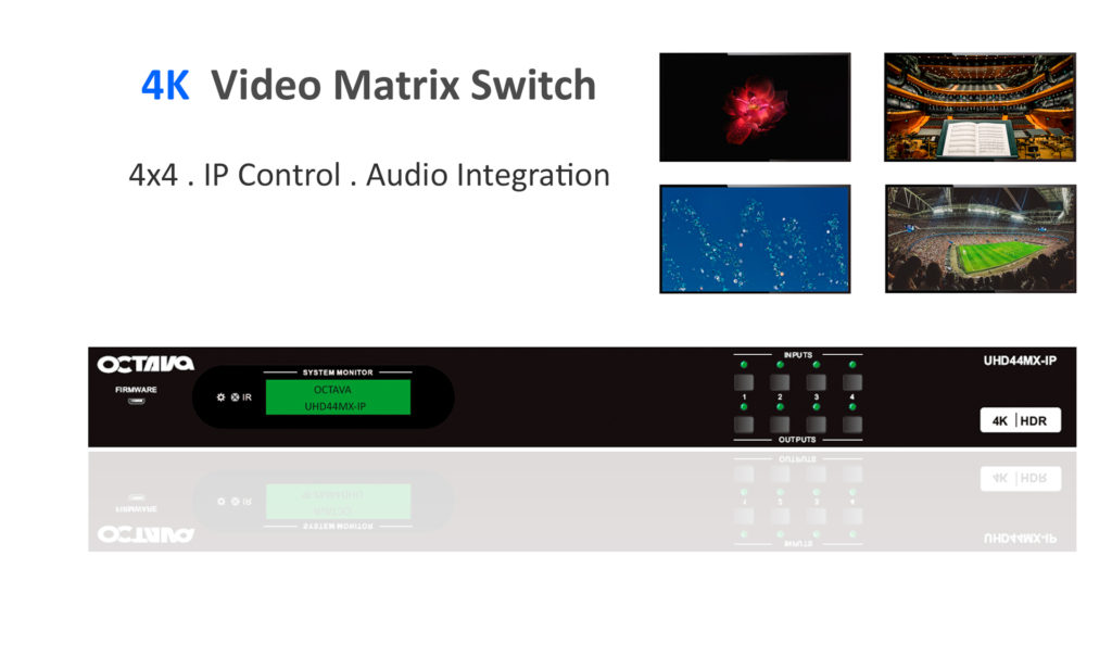 4x4 HDMI Matrix Switch-UHD44MX-IP