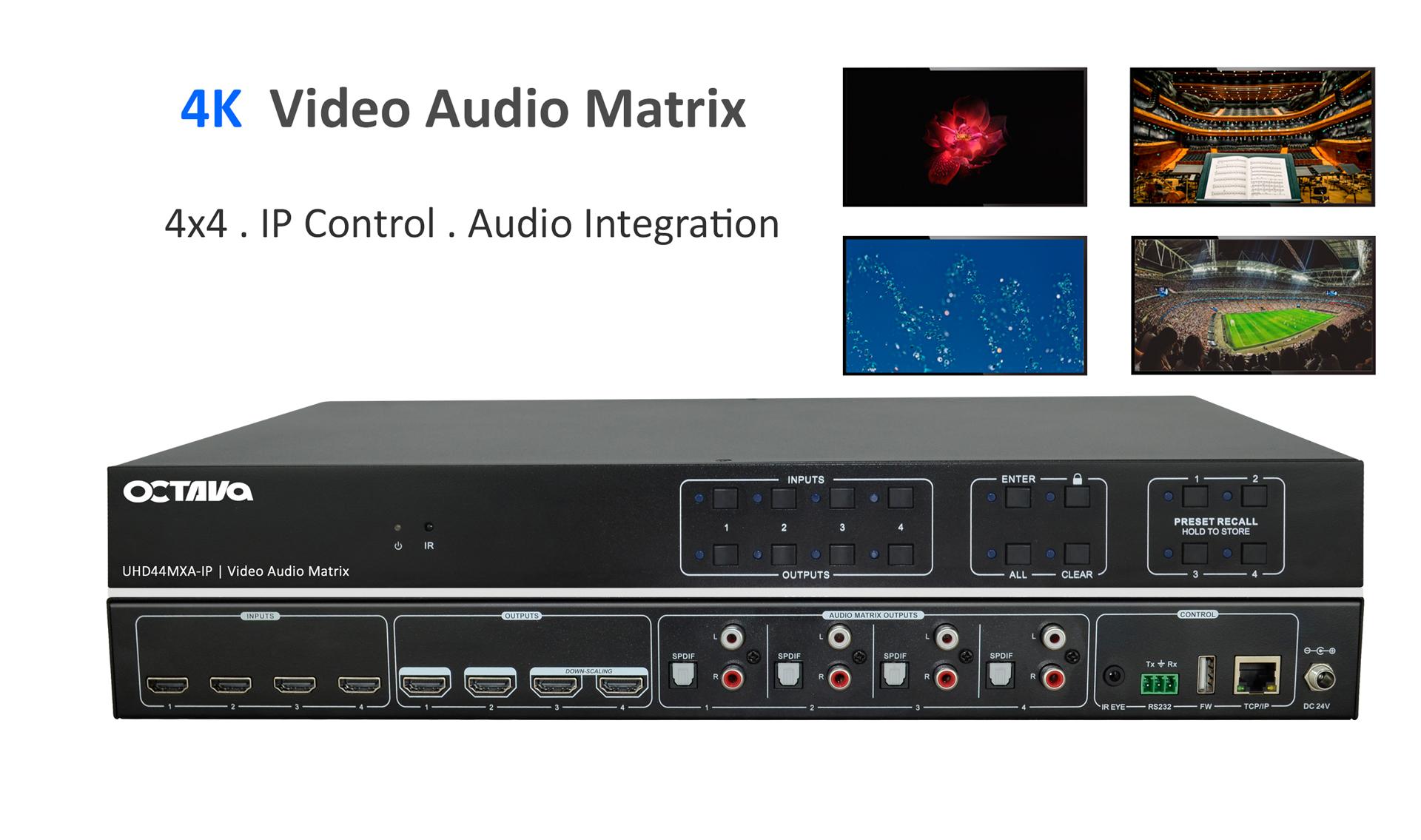 4x4 HDMI Matrix - UHD44MXA-IP